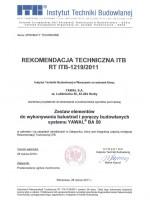 Aprobata Techniczna ITB<br>Balustrady Aluminiowe